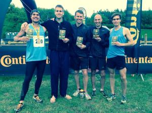 The victorious Men's Running team: (from left to right) Pedro Upton, Euan Mathieson, myself, Euan McGrath, Jonny Muir