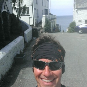 Hot, summer weather selfie! Back at Buck's Mills, 8 miles. But this time, only a quarter of the way into my training run.