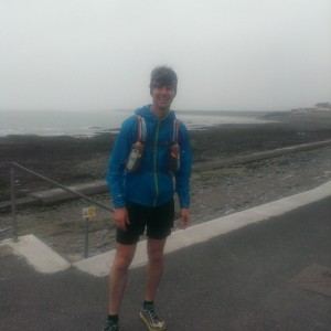 Day 1 - 16 very hilly miles to Buck's Mills and back testing my wet weather gear! Do I look 'Ultra' yet?!