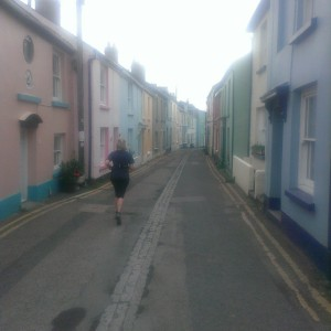 And running in a more conventional fashion through the charming village of Appledore.