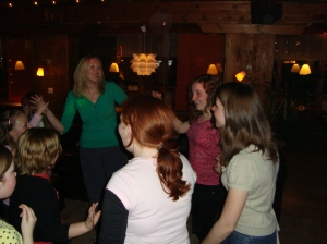 Lowton West Ski Trip, Easter 2009 - Alisha the teacher! (Miss Reynolds, Miss Bartolini(2), Miss Lea)