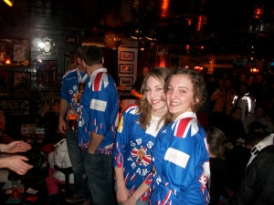 February 2010: Alisha (and Zoe) the fully fledged Apres-skiers!