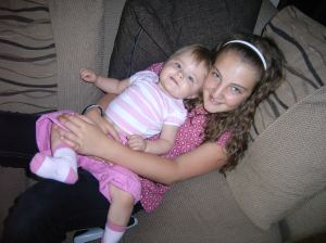 August, 2008: Alisha and Hannah chilling after a hard days entertainment!
