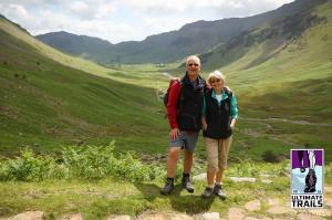 My mum and dad halfway up Stake Pass, the stunning Langdale valley behind. Thanks @jumpyjames!