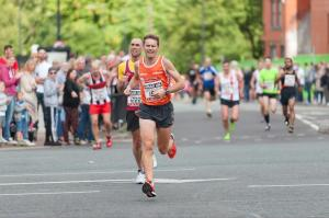 Sprint finish to 35th place at the Wigan 10k. (PB of 38m13s)