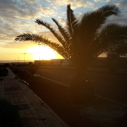 'Morning has broken!' Sunrise above Corralejo.