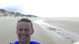 Miles of beach in Wales for a 'Chariots' moment!
