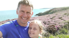Anglesey cliff run with Hannah!