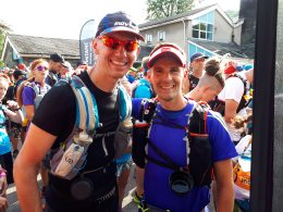 Even more nervous smiles with my good running buddy, Rob Lister.