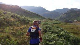 Climbing out of Coniston in the sultry evening heat.