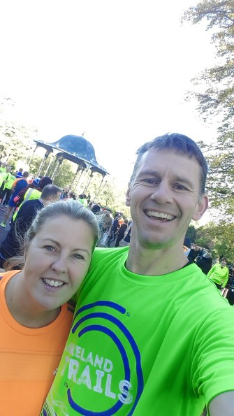 Leanne and I pre Wolves Parkrun
