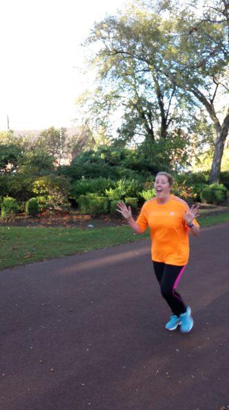 Leanne enjoying the moment!