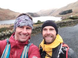Smiling as we depart Mardale Head, just as we will in the 2019 race!
