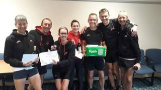 Some of the victorious Wigan Harriers team.