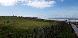 The stunning links course at Royal Porthcawl Golf Club. (They'd never let me on!)